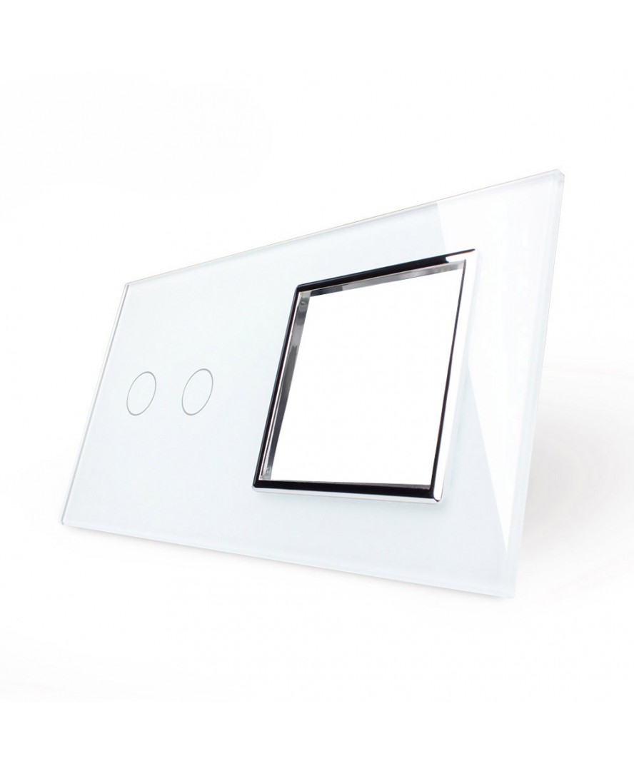 2. Рамка Двухлиненый выключатель + розетка (Двухпостовый)