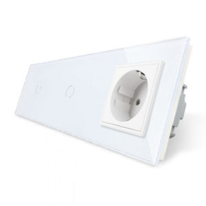 5. Два однолинейных выключателя + розетка (Трехпостовый)