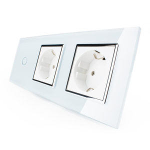 3. Однолинейный выключатель + две розетки (Трехпостовый)