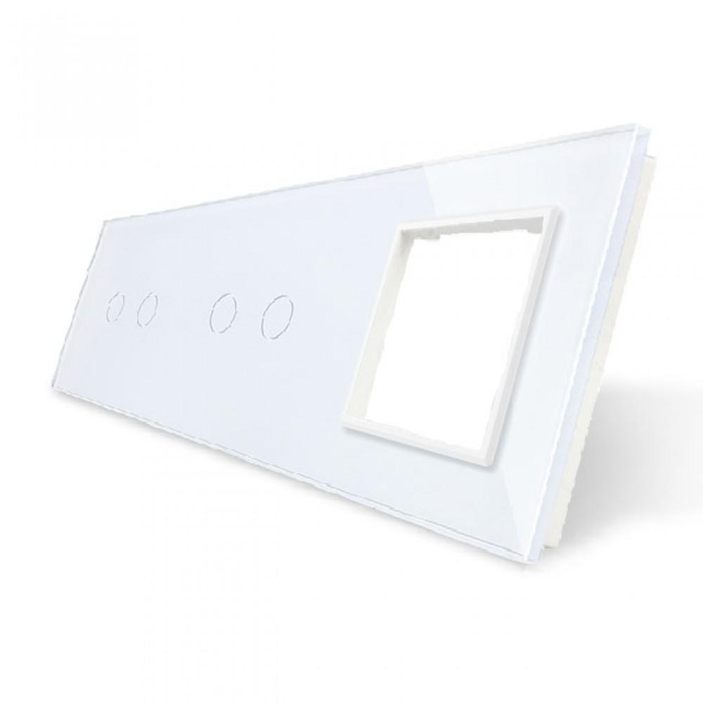 6. Рамка Два двухлинейных выключателя + розетка (Трехпостовый)